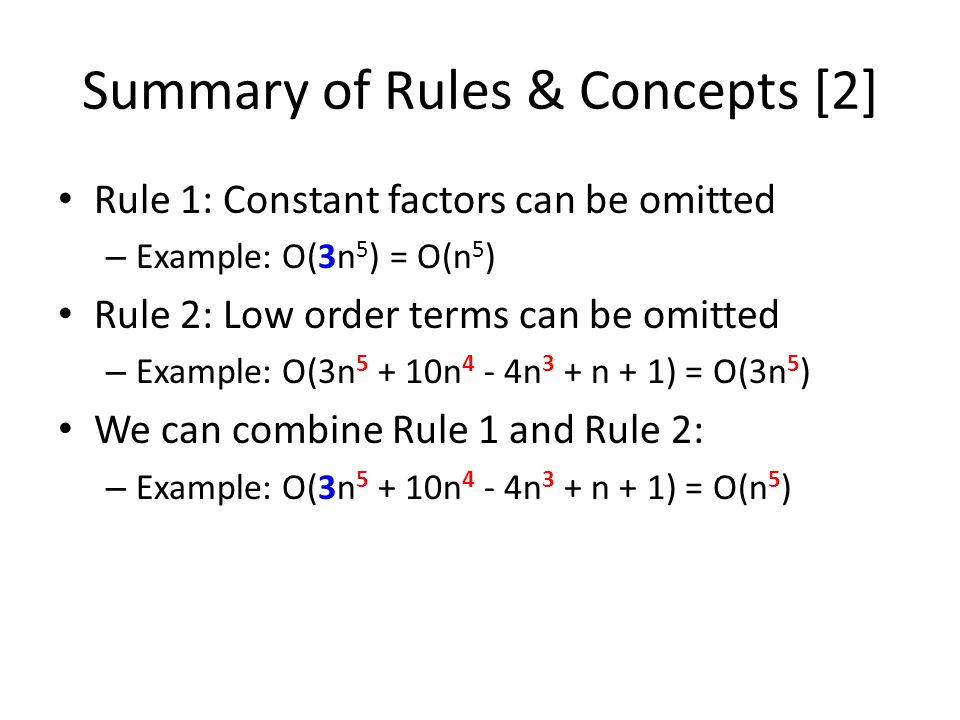 Summary of Rules & Concepts [2]